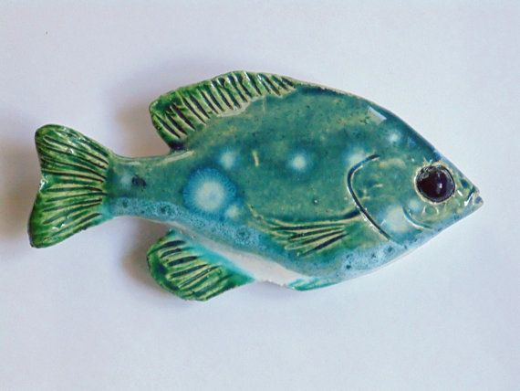 Ceramic fish art sunfish decorative wall hanging & 12 best Fishies and aquatic critters images on Pinterest   Pisces ...