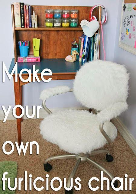 Furry Desk Chair: Pottery Barn Hack