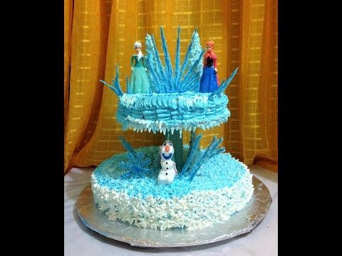 Pastel De Frozen En Chantilly Muy Fácil! - Madelin's Cakes - YouTube