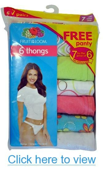 9341bdf4dba7 Fruit of the Loom Womens 7 Pack Cotton Thongs Panties #Fruit #Loom #Womens  #Pack #Cotton #Thongs #Panties   Thongs   Fruit of the loom, Loom, Fruit