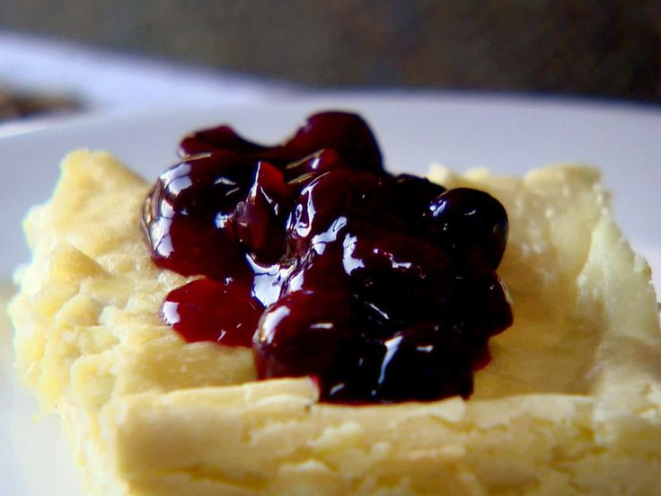 Baked Blintzes with Fresh Blueberry Sauce recipe from Ina Garten via Food Network