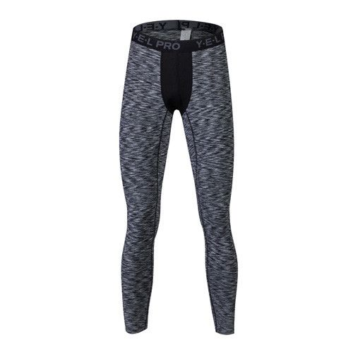 YEL White Mens Compression Pants Gym Men Fitness Sports Running Leggings Sport Tights Dry Fit Training Compression Running Pants