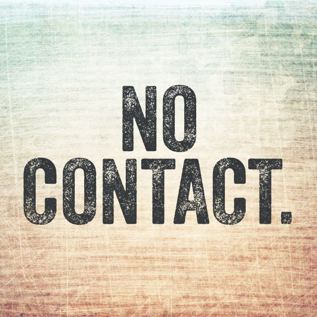 no contact to get over someone
