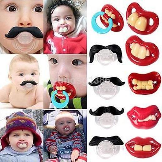 Orthodontic Baby Infant Newborn Funny Mustache Pacifier Binky Pacifiers Dummy Yo Unisex Lips/beard China