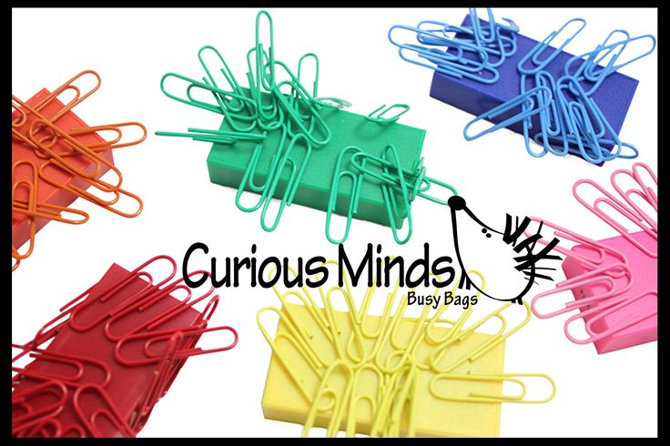 Magnetic Color Sort Toy - Sort Colorful Paperclips on Matching Magnets