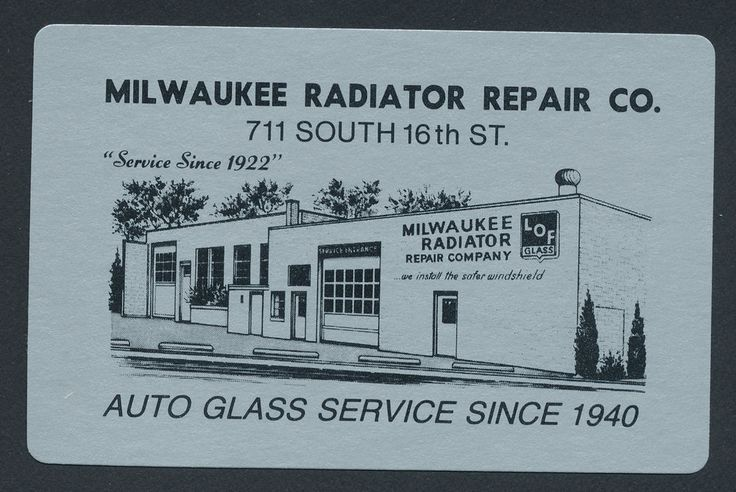 Milwaukee Radiator Repair Co WI playing card single swap ace of clubs - 1 card