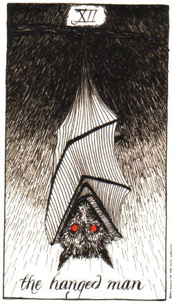 I love the way the bat is almost cocooned in possibility. http://www.aeclectic.net/tarot/cards/_img/wild-unknown-10242.jpg