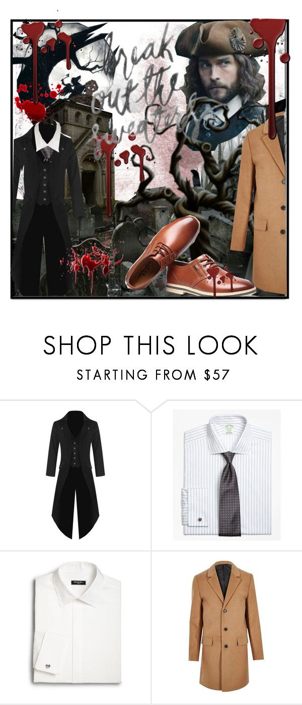 """""""sleepy hollow dress code"""" by latanika ❤ liked on Polyvore featuring Brooks Brothers, Saks Fifth Avenue, River Island, BLOODY, sleepyhollow, hunted and tommison"""