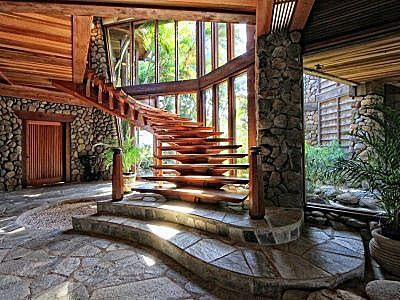 Stairs or art? #Maui: Interior, Maui, Stairs, Staircases, Dream House, Outdoor, Stone, Homes