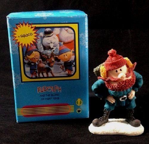 Rudolph and The Island Of Misfit Toys YUKON CORNELIUS Mini Figurine NEW IN BOX #Enesco