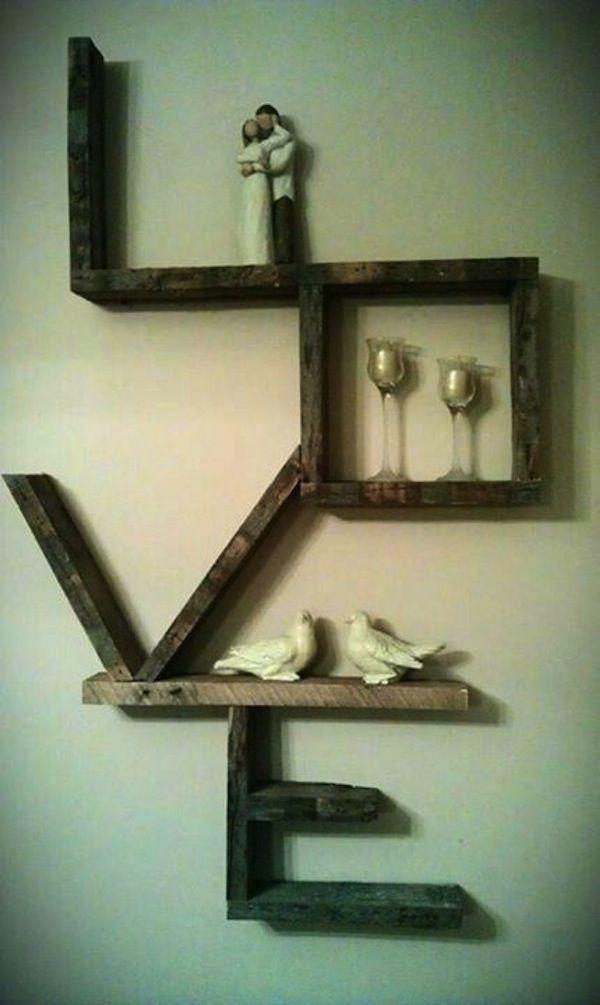 Bedroom floating shelves ideas