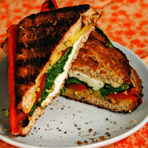 Grilled Veggie and Mozzarella Sandwich   Recipe   Stick it, Summer and ...