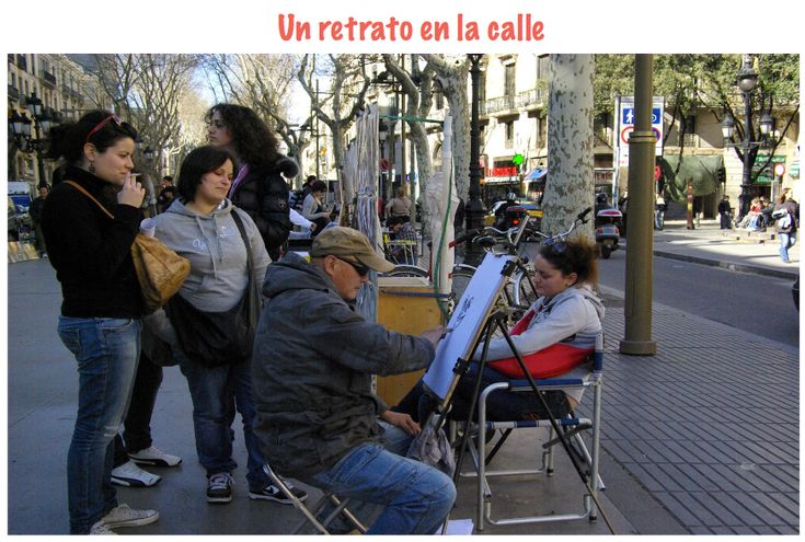 A portrait in the street of Barcelona IB Spanish Ab Initio IA