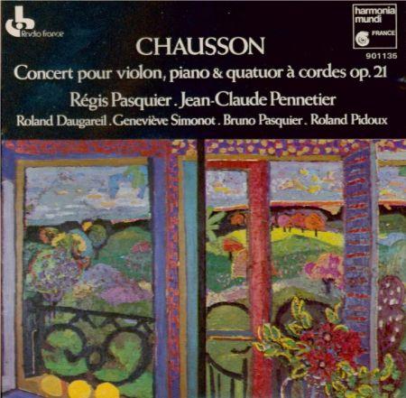 Ernest Chausson; Concert pour piano, violon et quatuor à cordes