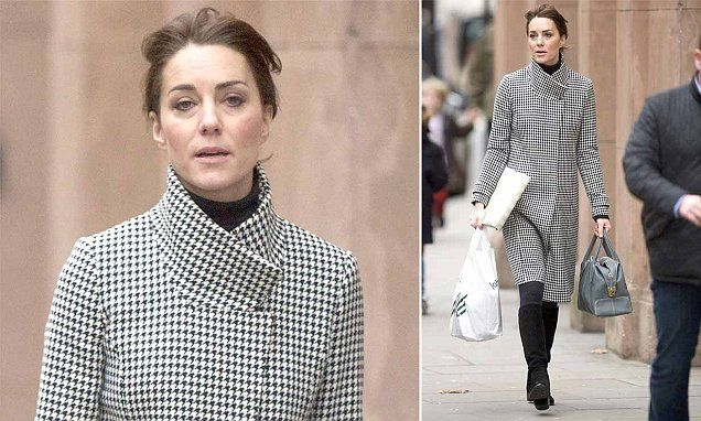 Kate was spotted in upmarket Chelsea, where she spent an hour in department store Peter Jones.