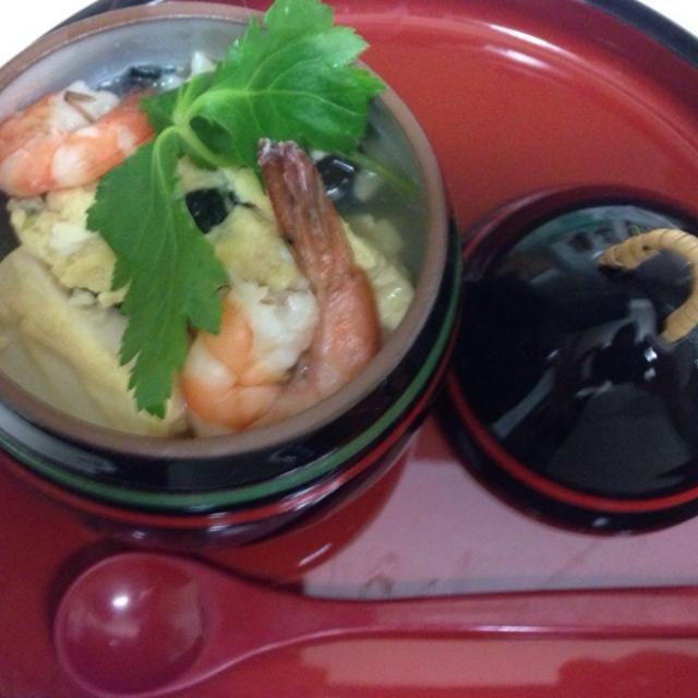 余っていたお豆腐、溶き卵と松茸の味お吸い物をレンジで2分加熱するだけ、手抜きです(*^_^*) - 7件のもぐもぐ - あと一品に、松茸の味お吸い物で空也蒸し by mtorii19