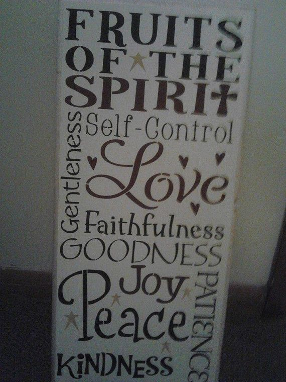 Fruit of the spirit sign by JMMidwestcreations on Etsy