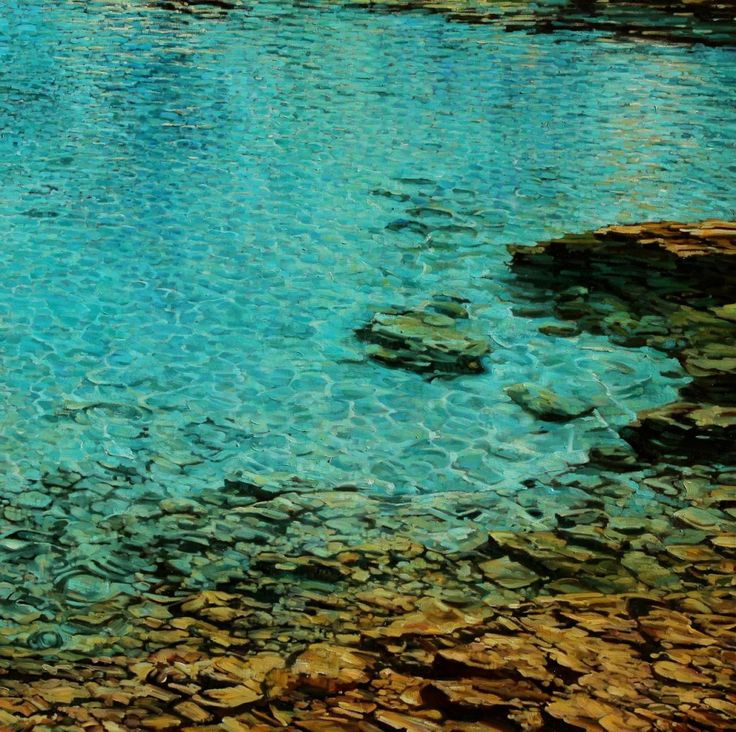 Fantastic painting of water