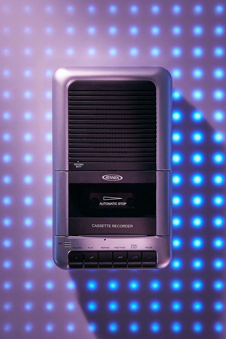 Jensen Cassette Tape Player + Recorder