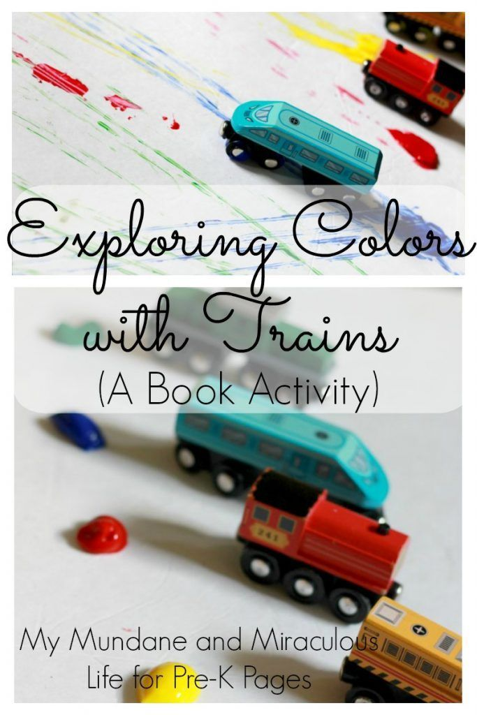 Freight Train Exploring Colors With Trains Your Preschool Pre K Or Kindergarten Kids Will Love As They Paint