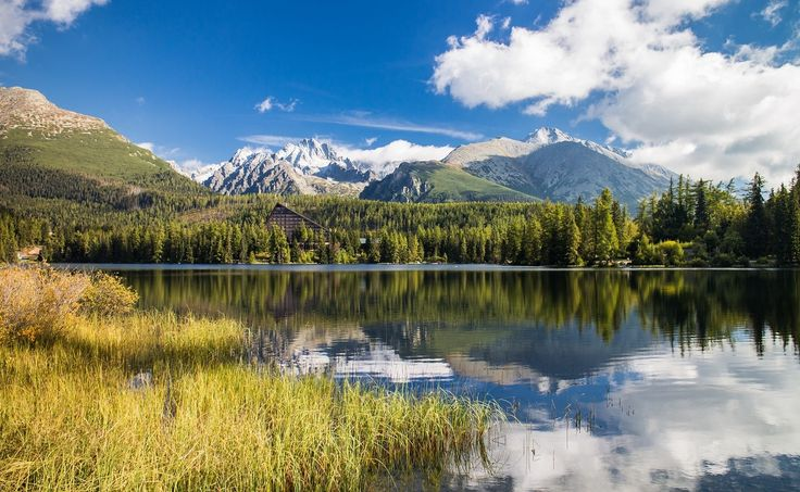 The most famous lake in the High Tatras - the Štrbske lake. I was lucky when taking this picture. The light in the morning was just perfect.