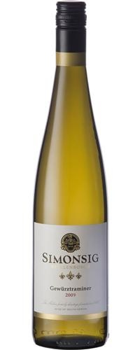 Simonsig Gewurztraminer...Very expressive spicy aromas on the nose. Rose petals, litchis and sweet tropical fruit flavours follow through on the palate. The late harvested fruit provides a delicate sweetness, kept in balance by the refreshing acidity. This wine has a beautifully concentrated fruit intensity and it is famous for its longevity.
