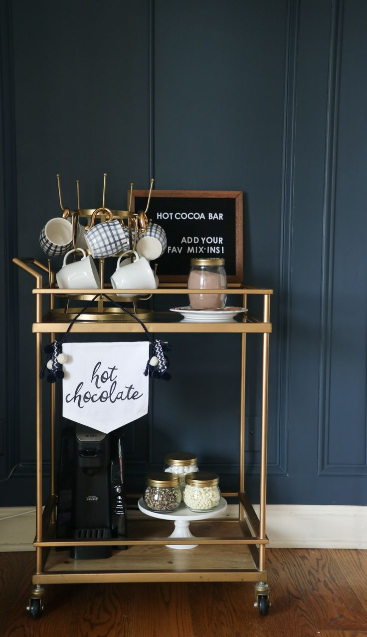 DIY beverage station - includes tutorial for making the cute canvas banner!