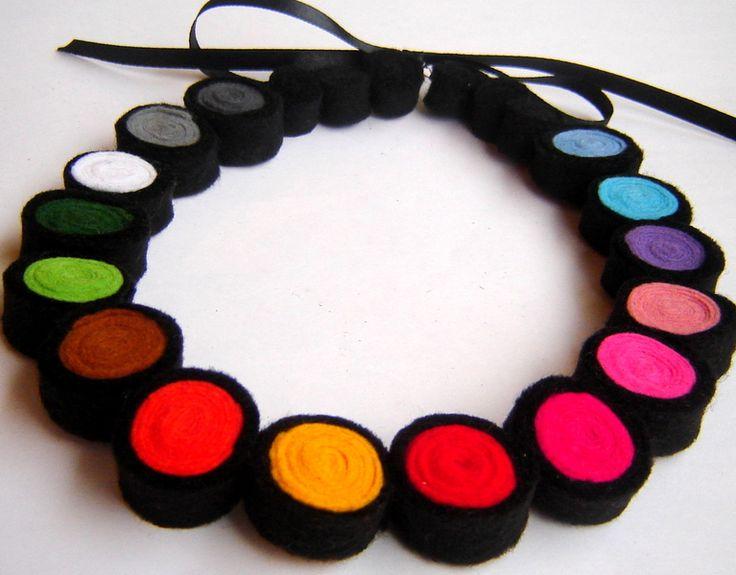 Fieltro Collar de Ifffka por DaWanda.com