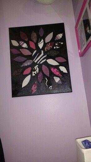 Wallpaper sample art  Canvas, paint, modge podge....voila