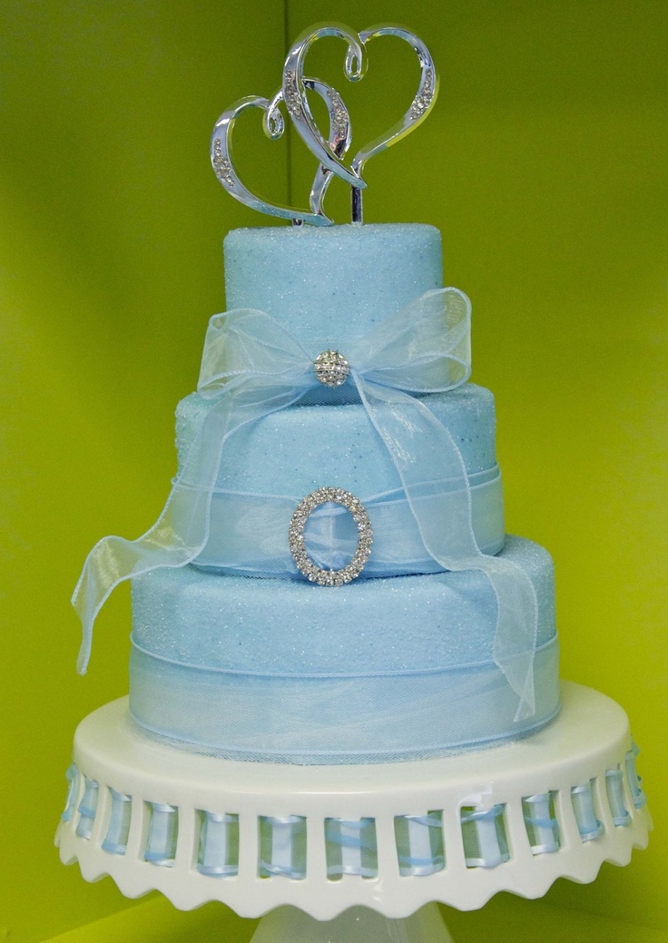 Light Blue Wedding Cake. Keywords: #weddings # ...