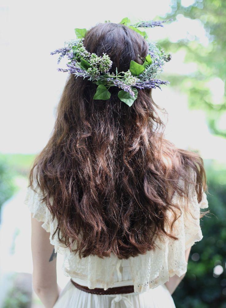 inks+thread - - - lavender | marjoram | ivy head wreath