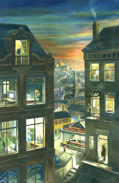 """Office At Night"" Phil Lockwood///Very clever. I love this! Note by Roger Carrier"