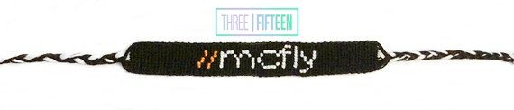 #McFly logo #bracelets by shop315 on #Etsy  These adjustable knotted DMC embroidery floss McFly bracelets are handmade with thousands of small knots. Either logo would look great on any Galaxy Defender's wrist. Who wouldn't want to show off their love for McFly? All colors can be customized. #handmade #friendshipbracelet