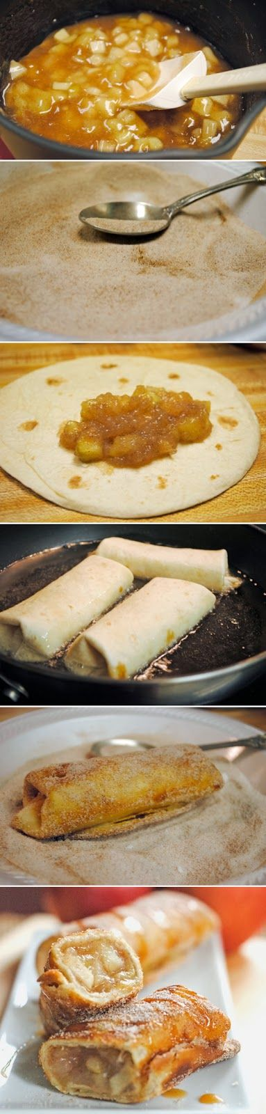 Yummy Recipes: Cinnamon Apple Dessert Chimichangas recipe