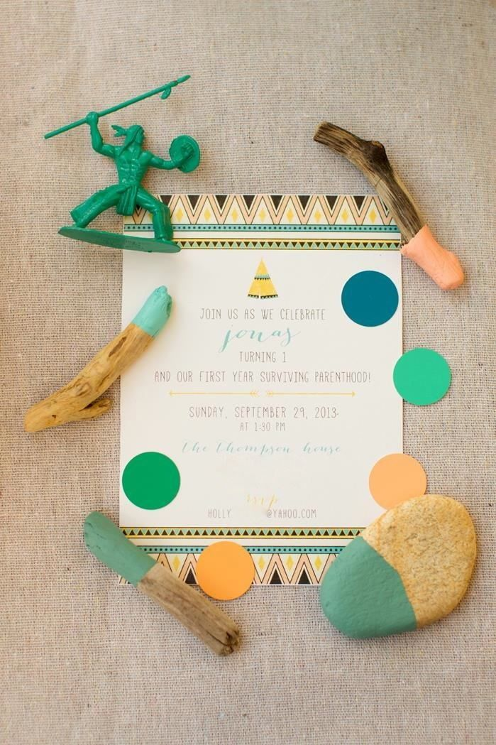first birthday invitation wordings india%0A First Birthday Pow Wow Party Planning Ideas Supplies Idea Decorations