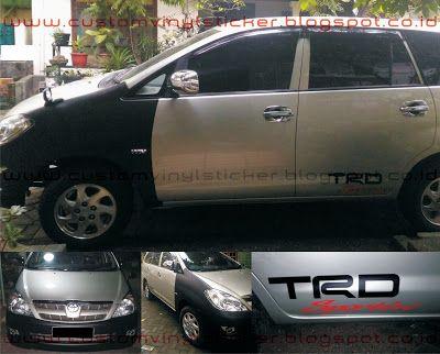 Toyota Kijang Innova - Custom Black Mate Wrapp & T...