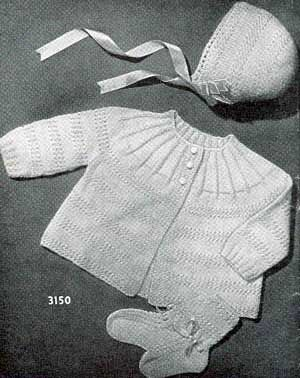 Little Angel Baby Set, Infants to 6 Months | Free Knitting Patterns