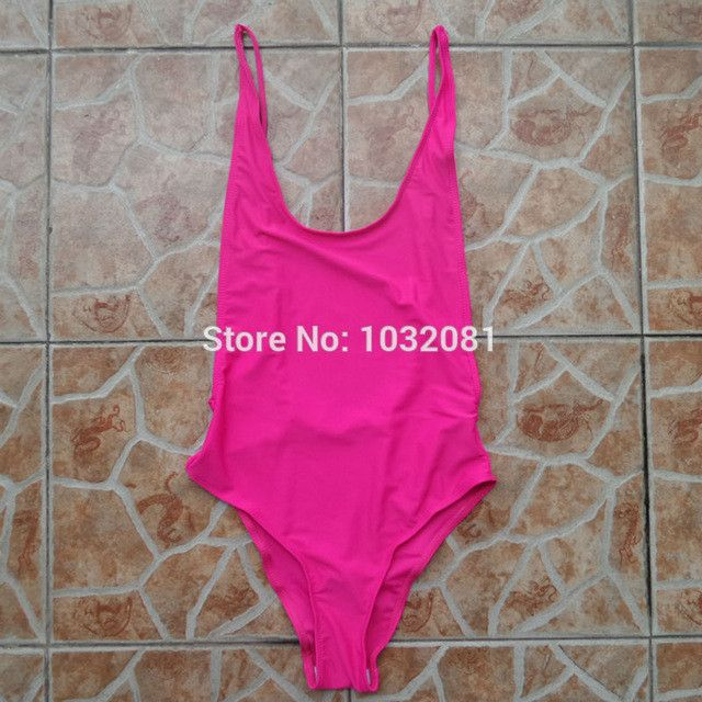 Sexy pink rose one piece bathing suit one-piece swimsuit Backless Swimwear Women swim suit body Beach wear Monokini