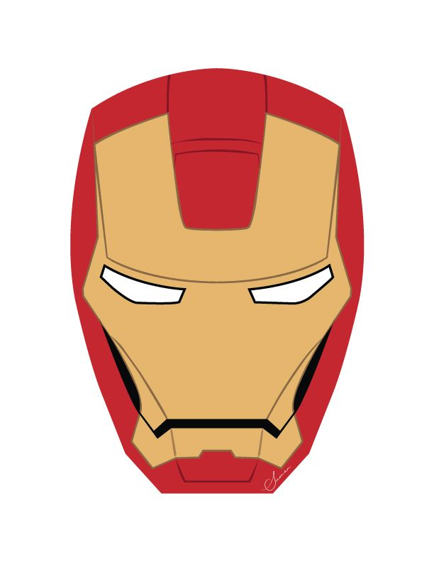 Iron Man Face Design On Adobe Illustrator Mask Template Ironman Mask Iron Man Face