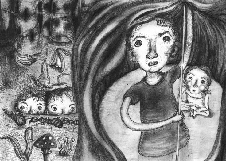 """Illustration til første del af bogserien """"Tove tænker"""" Den her """"Dobbelt så gammel"""" og er skrevet af forfatter/writer Mette Vedsø. Henvender sig til børn i alderen 8-10 år Published by Jensen & Dalgaard"""