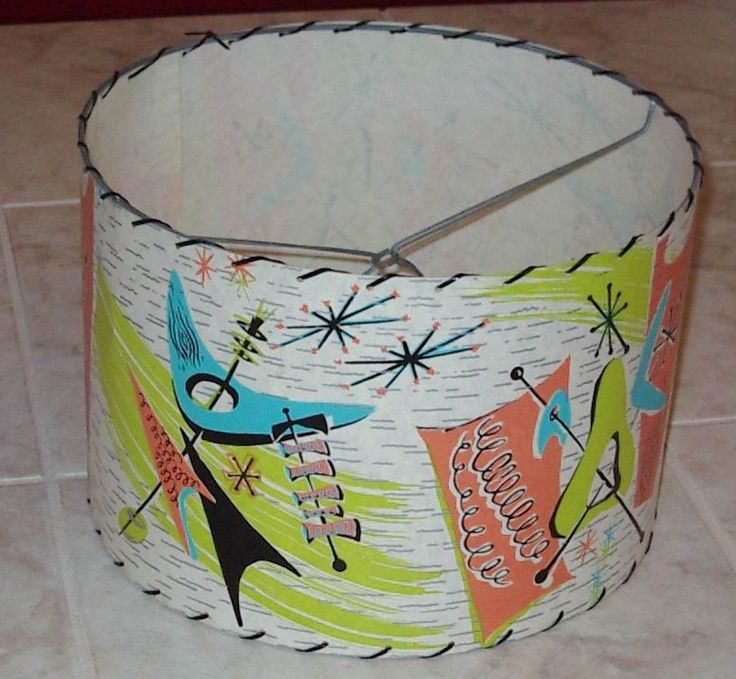1950's Atomic Ranch House: Atomic Retro Lampshade