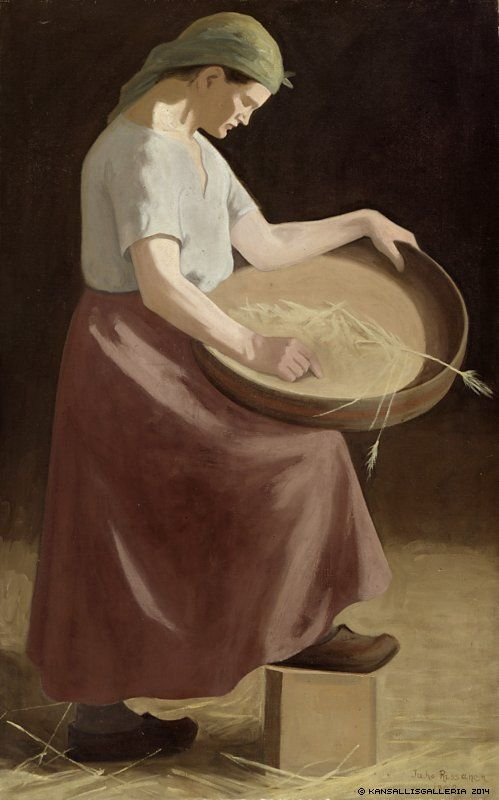 Finnish National Gallery - Art Collections - Sieving Juho Rissanen