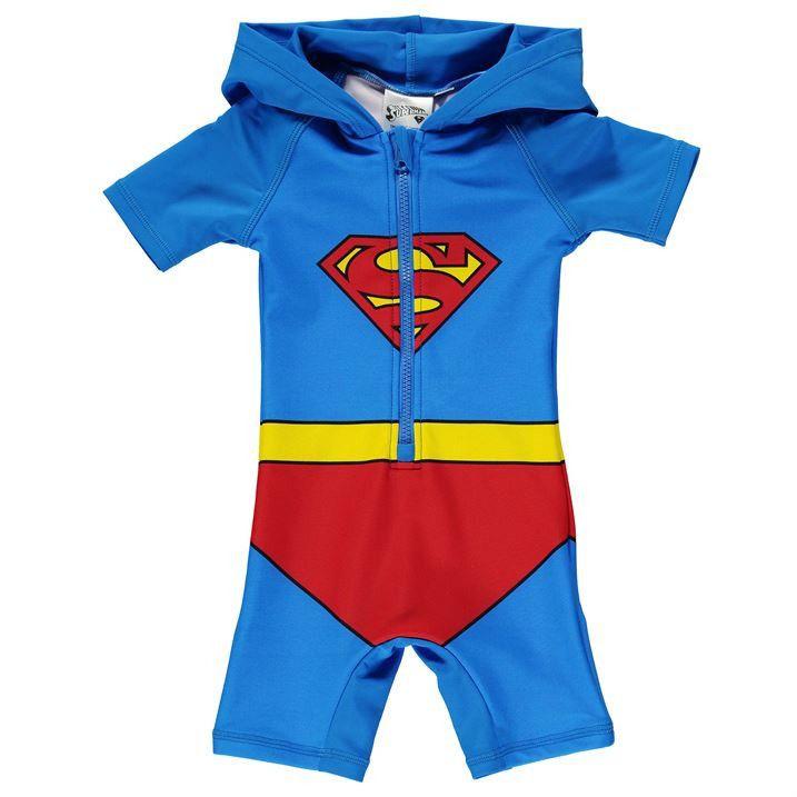 62b669654e Superman Baby UV Swim Suit | Superman Baby/kids | Superman baby, Swimsuits,  Baby boy outfits