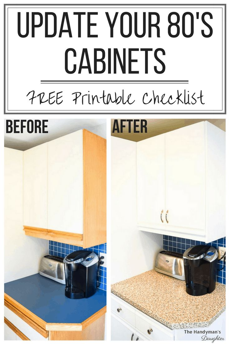 Tips for Updating Melamine Cabinets with Oak Trim ...