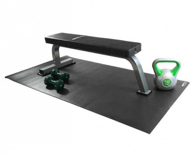Dit is de universele mat van Sportbay en je kan deze onderlegmat gebruiken als bescherming voor elke fitnessapparatuur. Koop nu de onderlegmat bij sportbay.nl.