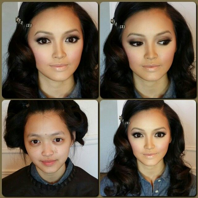 Pictures of Asian Makeup Before And After Transformation