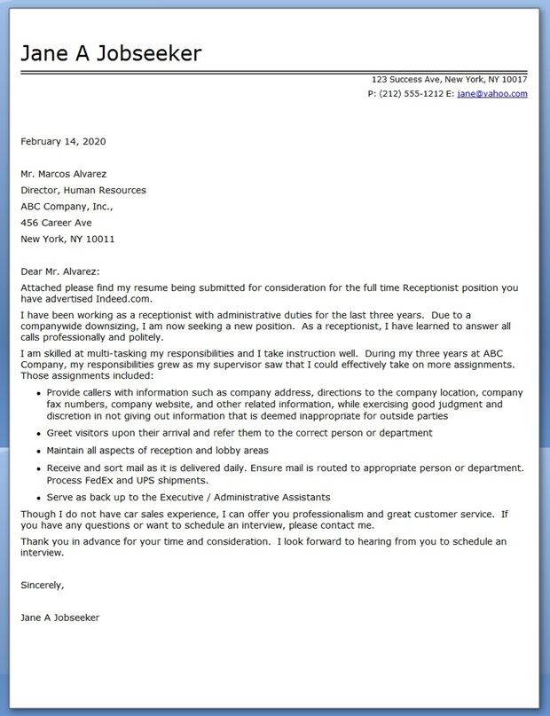 cover letter for strategic planning position - find some best samples of cover letters and sample