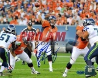 Denver Broncos -> Peyton Manning Denver Broncos vs. Seattle Signed 8x10 Photo  To order or for more information or pricing please contact info@roadgearsports.com