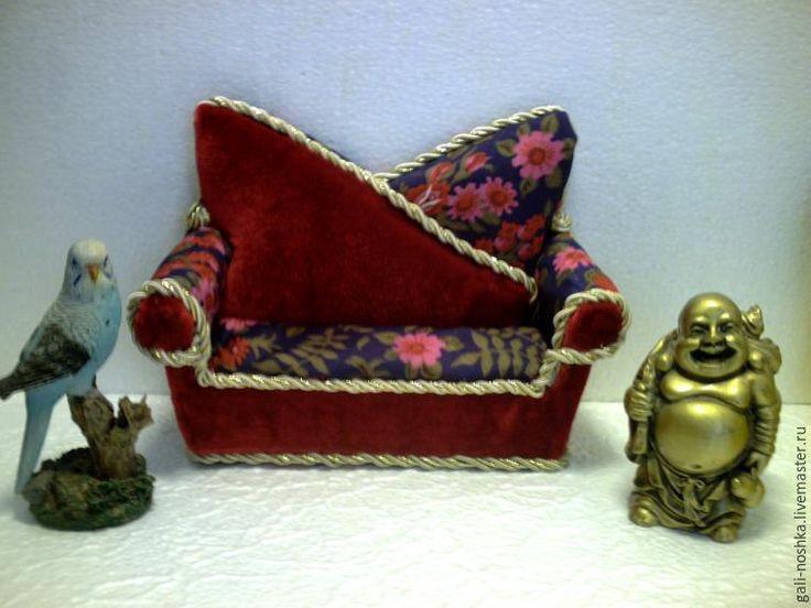 Мастерим мягкий диванчик для кукол - Ярмарка Мастеров - ручная работа, handmade