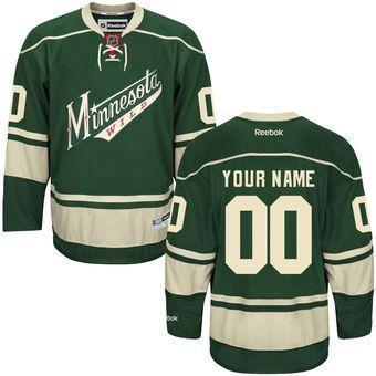 Reebok Minnesota Wild Men's Premier Alternate Custom Jersey - Green